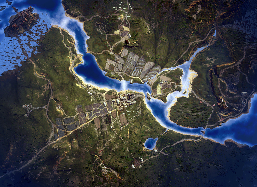 These aerial shots of the witcher 3 map look like they were taken via
