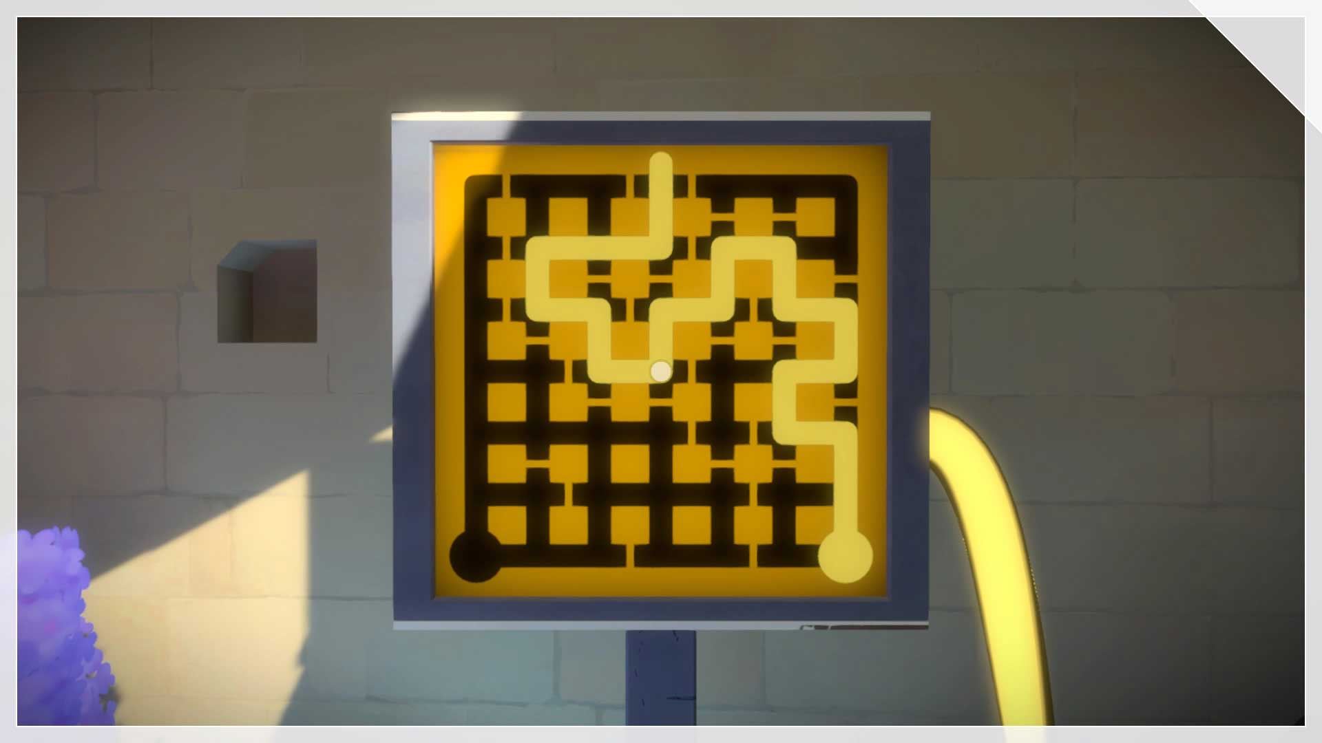 The Witness How To Solve The First Puzzle In The Garden