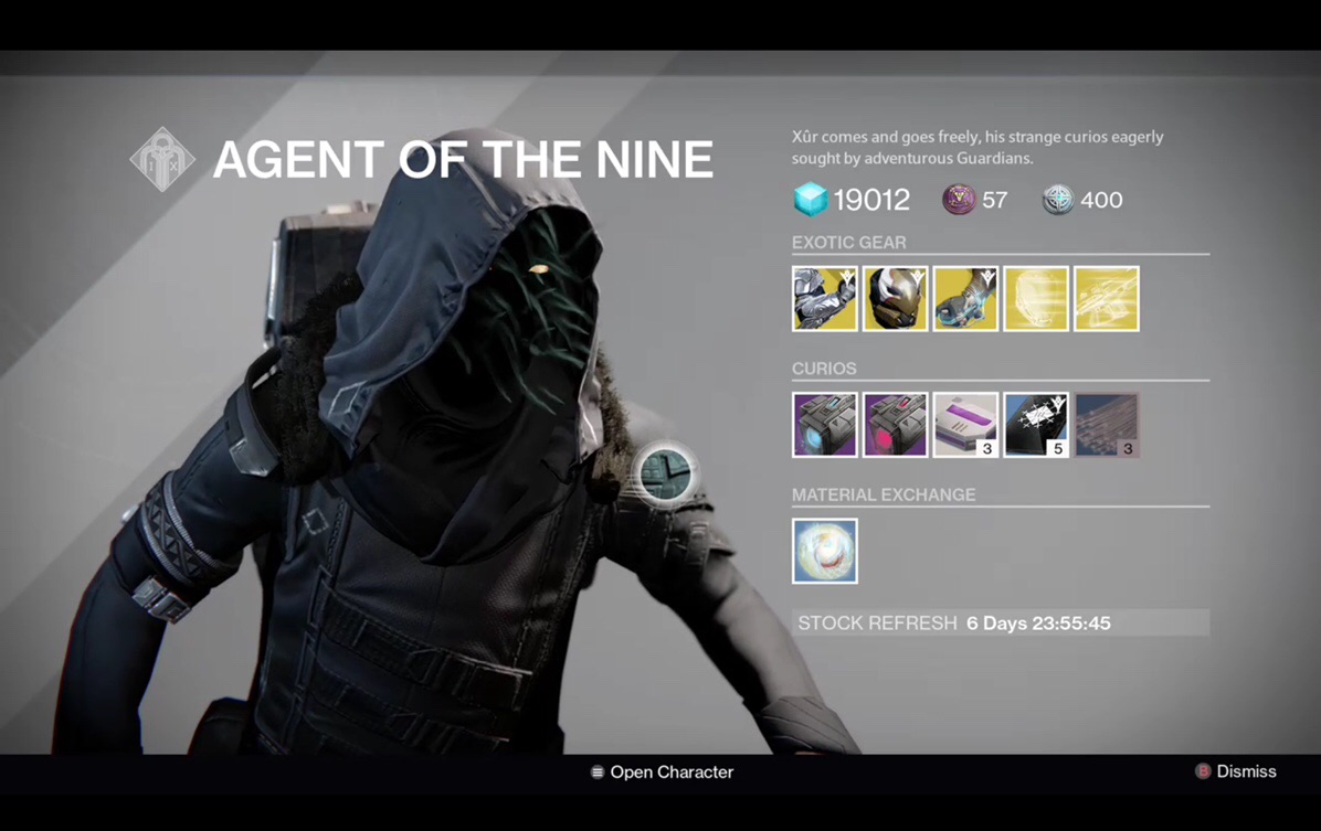 Destiny Xur Location And Inventory For January 15 16 Vg247