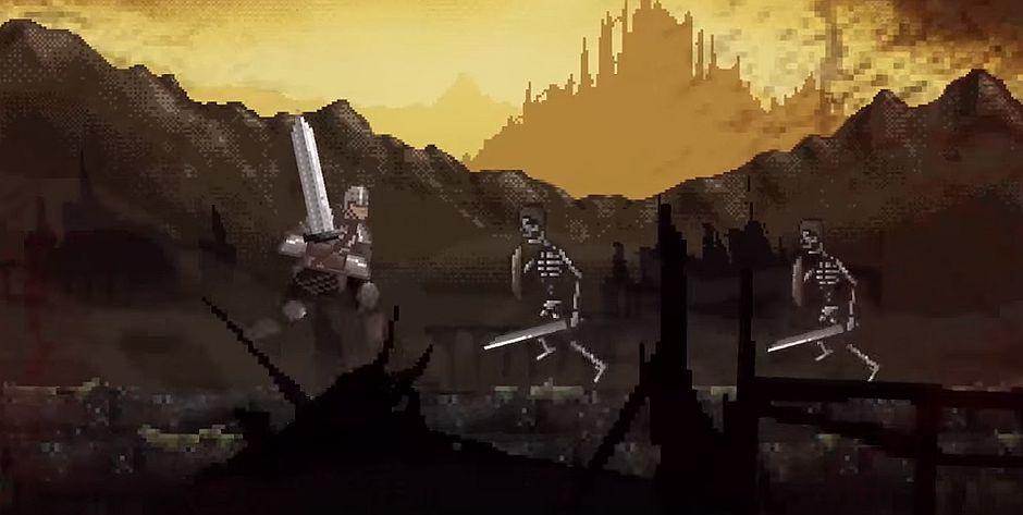 slashy souls is a dark soulsinspired mobile game thats