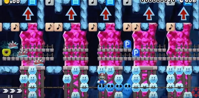 super mario maker level the cluttered