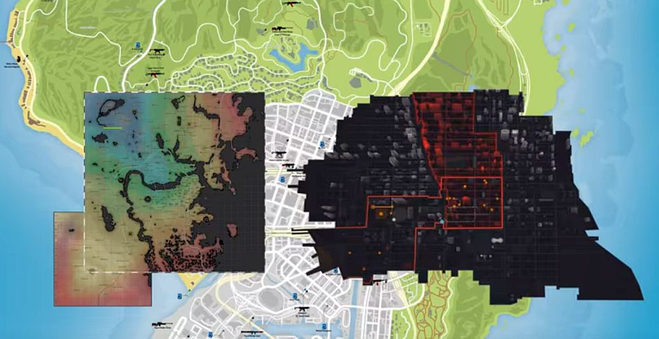 Map sizes comparing the ision with fallout 4 and gta 5 vg247