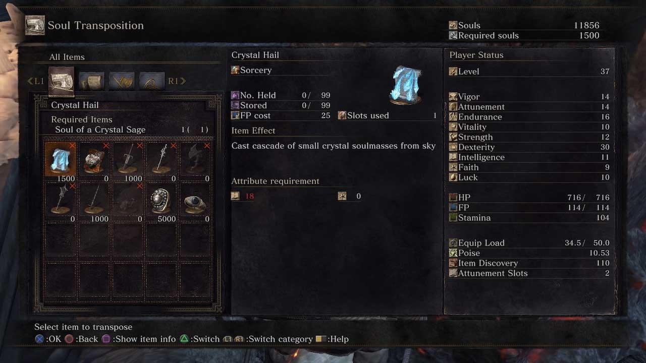 Dark Souls  Crystal Sage Rapier Build