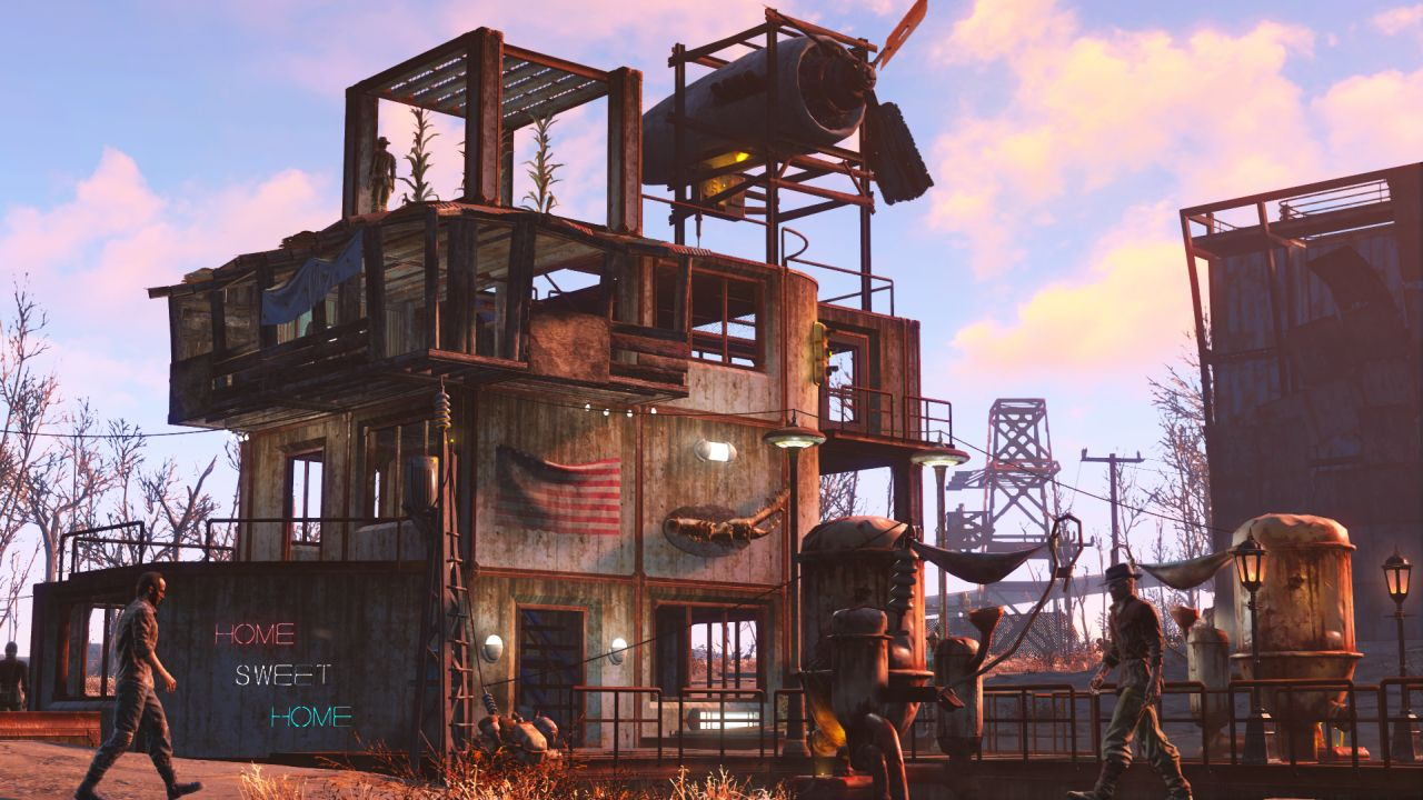 Fallout 4 s wasteland workshop dlc hits next week vg247 How to make your own house in fallout 3