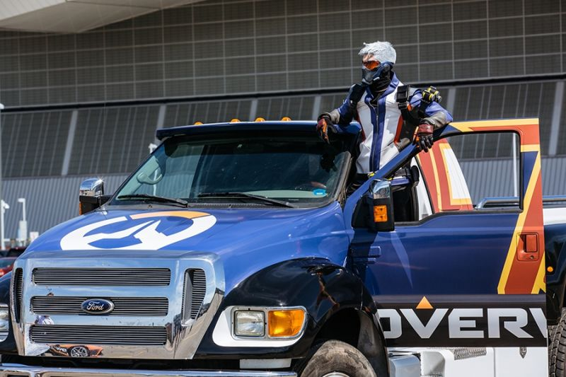 2016 Ford Trucks >> Overwatch's Soldier: 76 cosplay driver crashes his monster ...