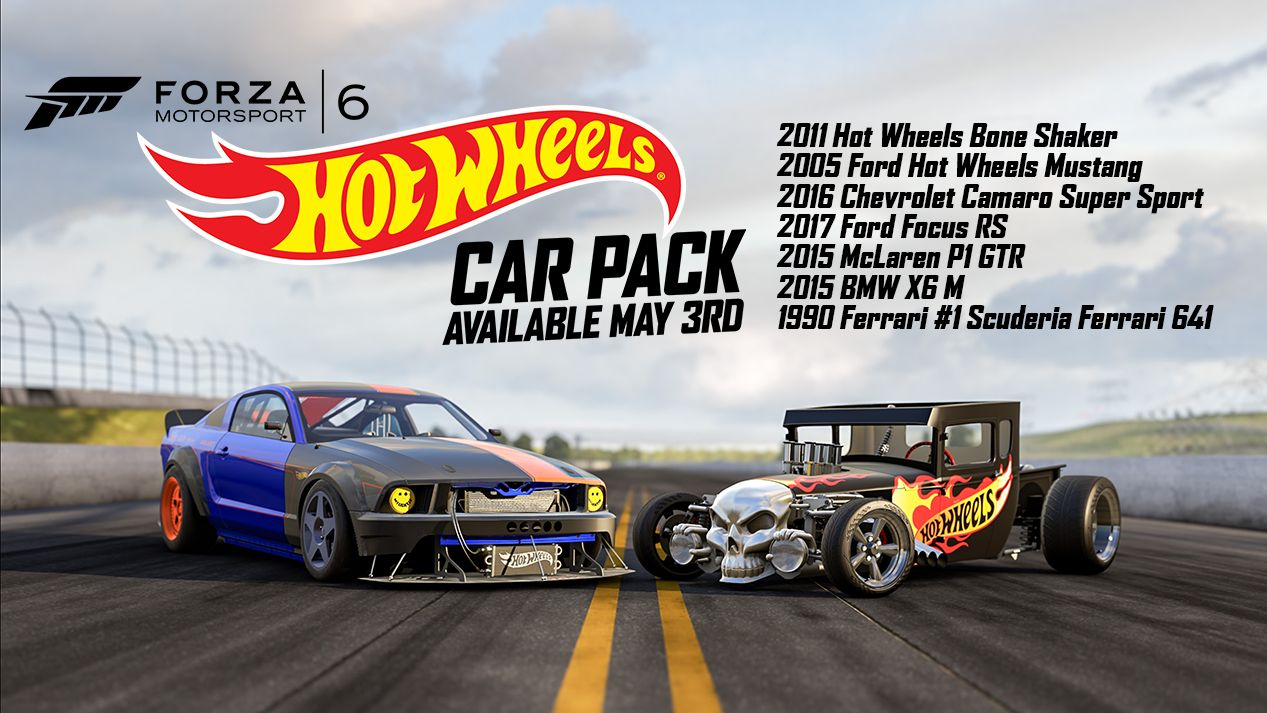 forza 6 players can now download the hot wheels car pack. Black Bedroom Furniture Sets. Home Design Ideas