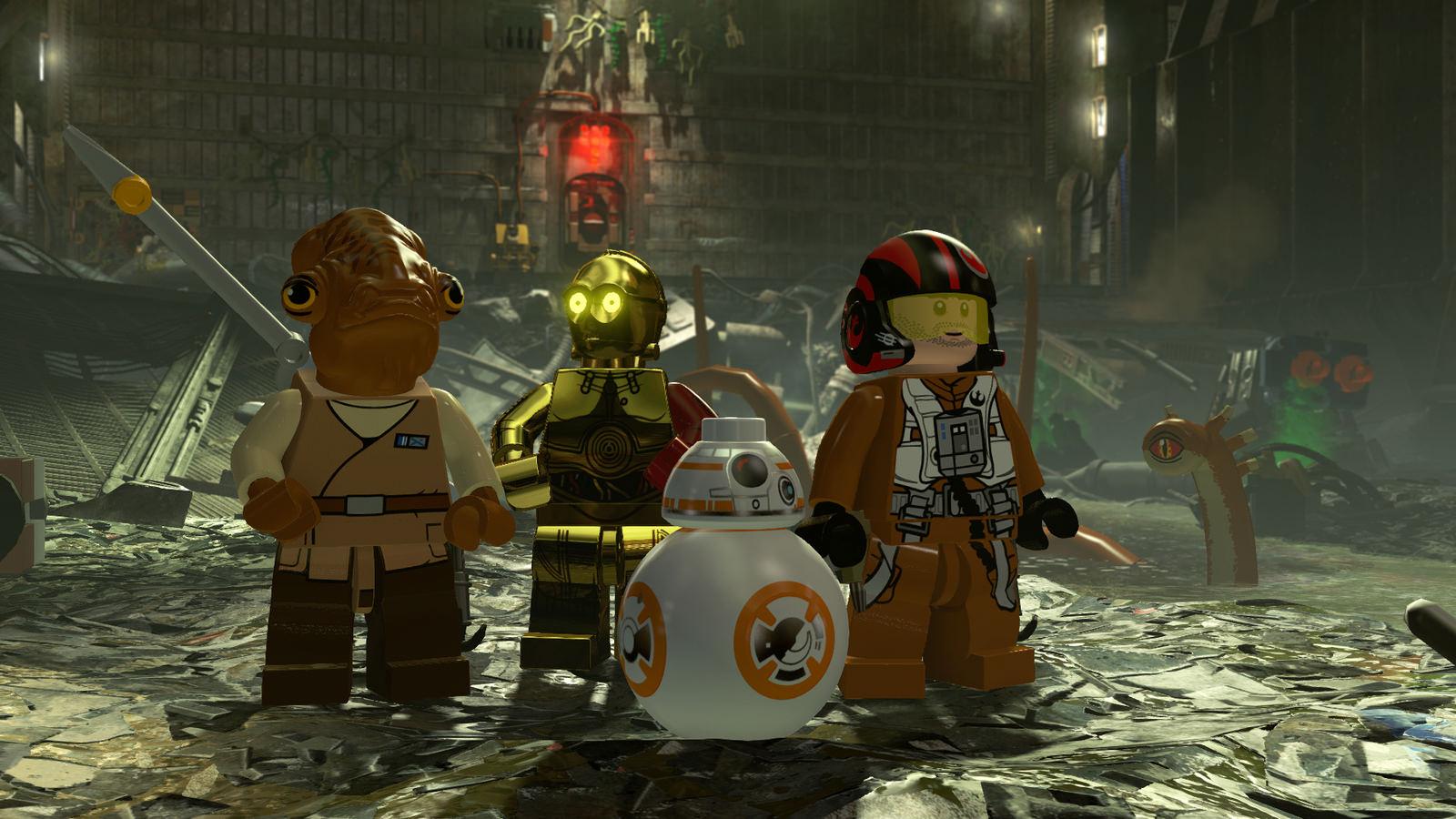 lego star wars the force awakens stars harrison ford carrie fisher more vg247. Black Bedroom Furniture Sets. Home Design Ideas