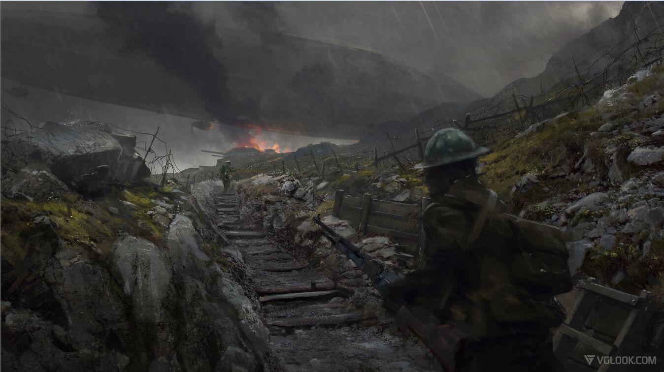 Battlefield 1 concept art is stunning vg247 - Battlefield v concept art wallpaper ...
