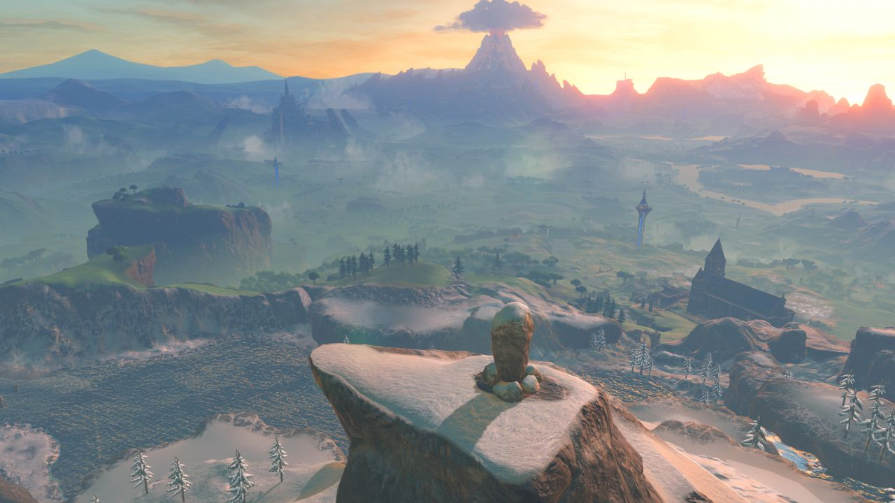 Breath of the wild just how big is the biggest legend of zelda map