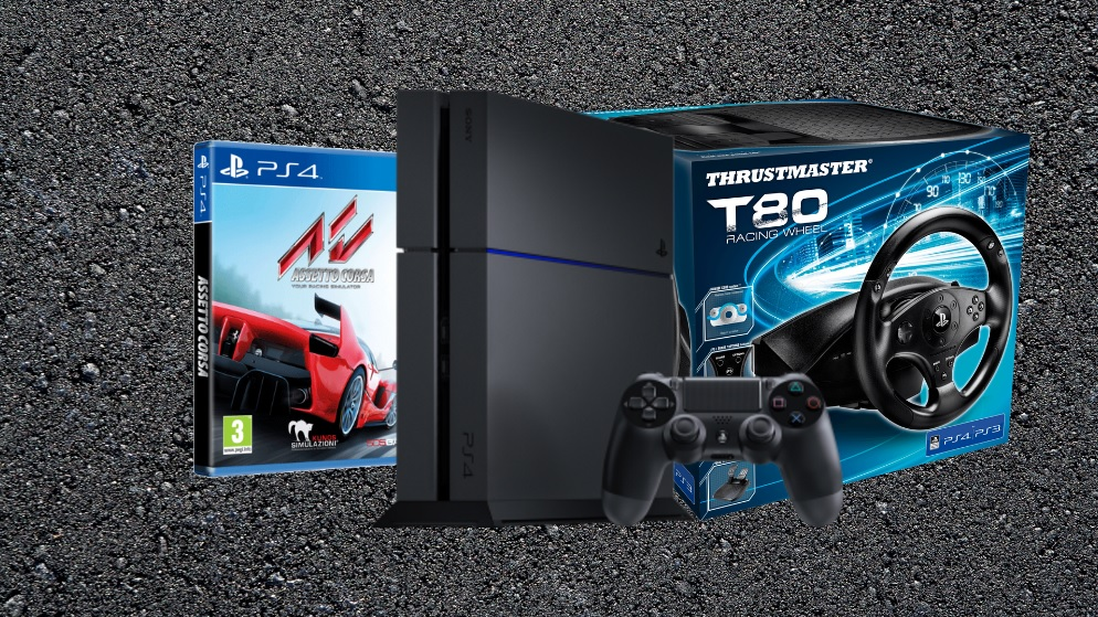 win a ps4 thrustmaster t80 steering wheel and assetto corsa vg247. Black Bedroom Furniture Sets. Home Design Ideas