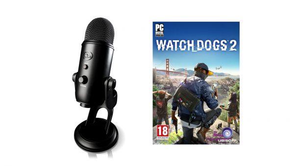 Black Yeti Mic With Watch Dogs