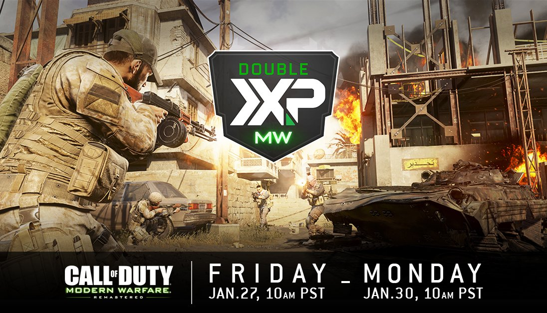 Call of duty double xp weekend dates in Sydney