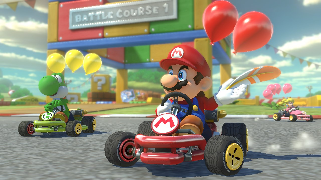 mario kart 8 deluxe will fit onto the switch 39 s internal memory with room to spare vg247. Black Bedroom Furniture Sets. Home Design Ideas