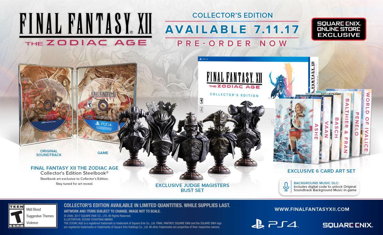 Final Fantasy 12: The Zodiac Age Collector's Edition comes ...