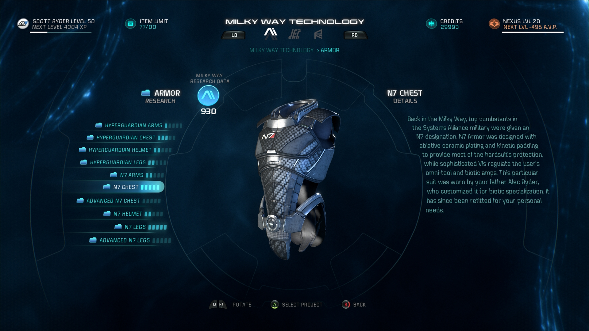 Andromeda Better Crafting