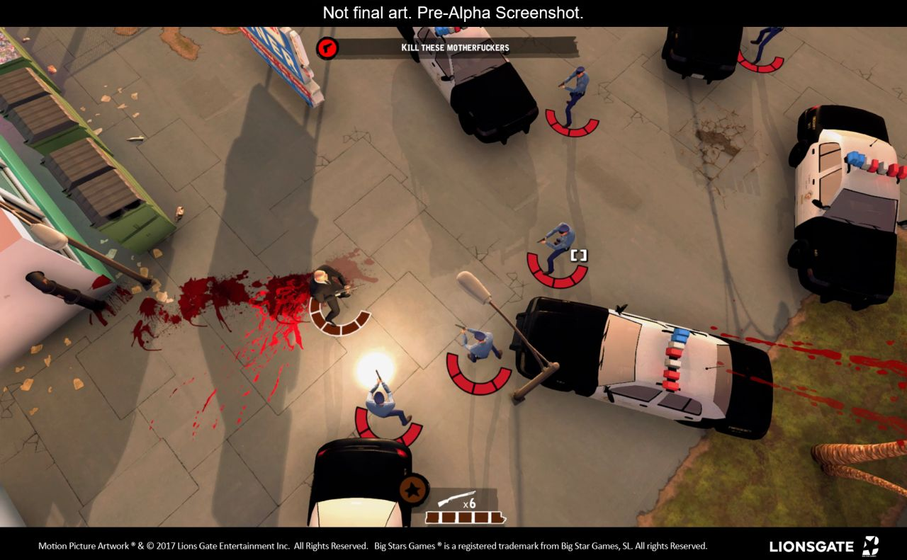 reservoir dogs bloody days is a topdown shooter based on