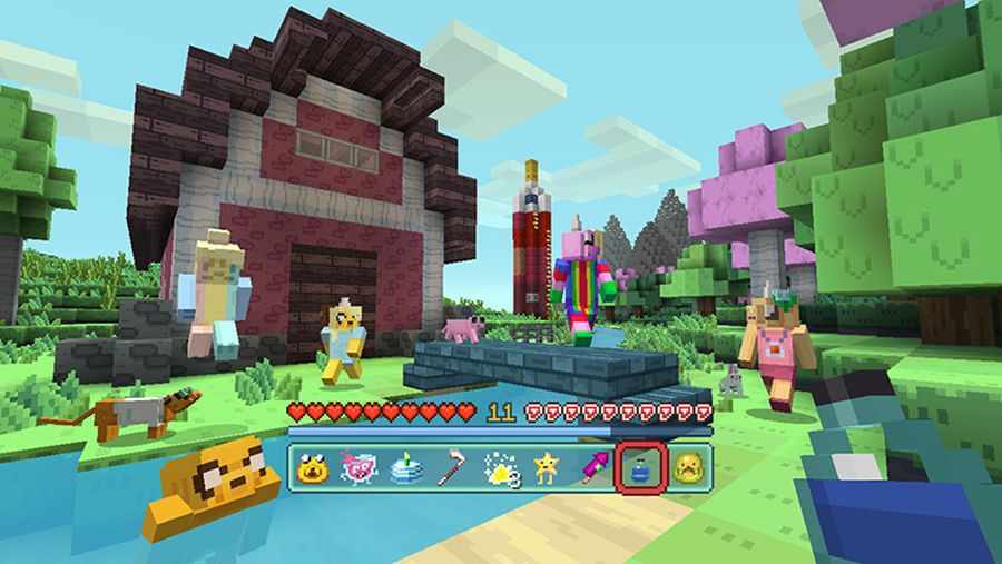 minecraft adventure time mash up pack out for console edition  wii u and switch later today