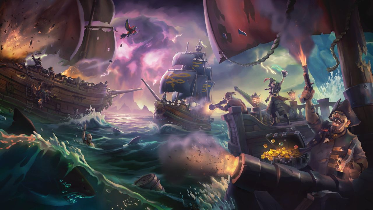 Meet the Sea Dogs and prove yourself in contests of treasure-hunting tenacity and seafaring skill! Competition is fierce, so bond with your crew and rise above your rivals in this exciting new way to make a name for yourself on the Sea of Thieves.