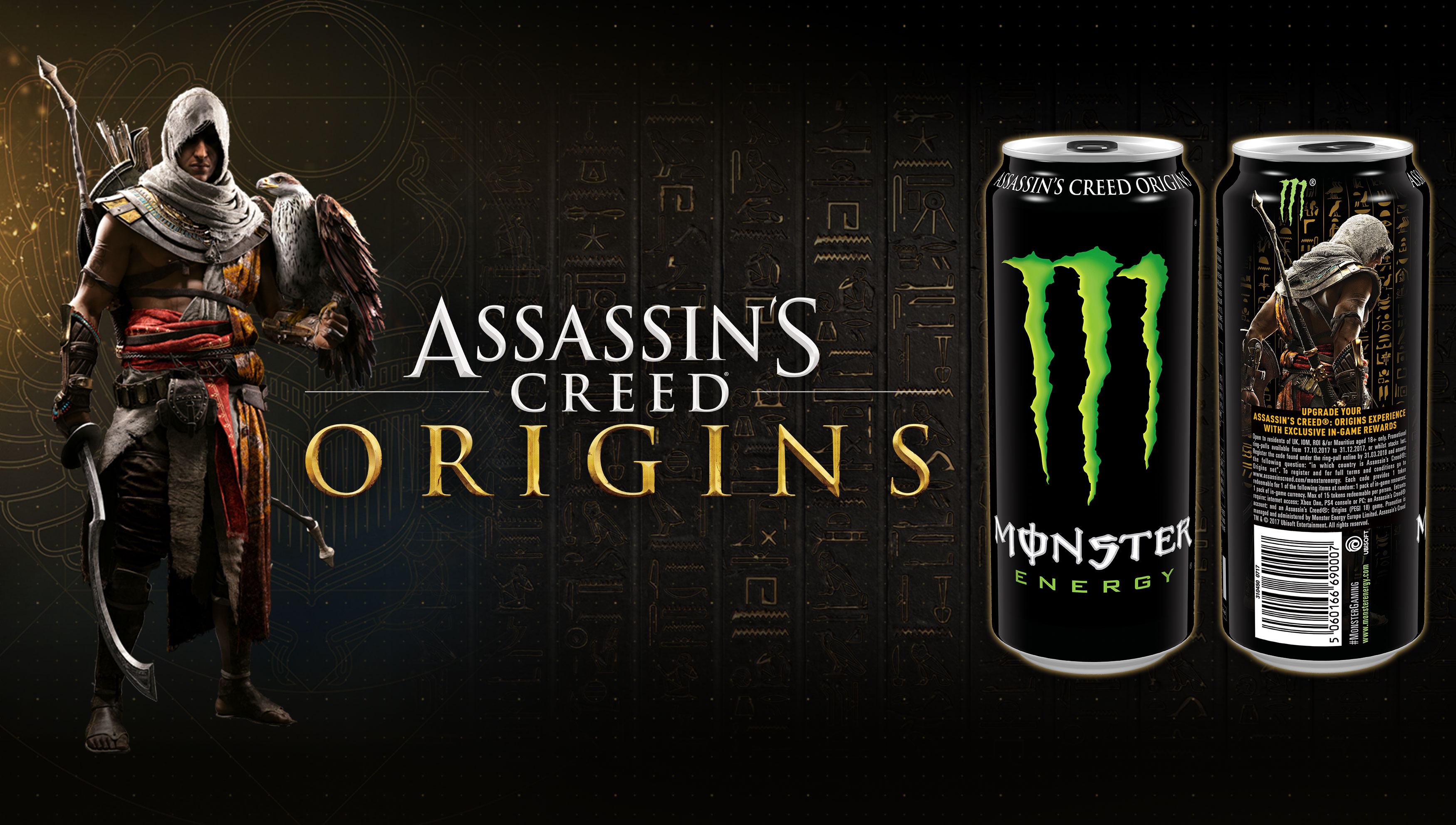 Assassin's Creed Origins and Monster Energy drinks form an ...