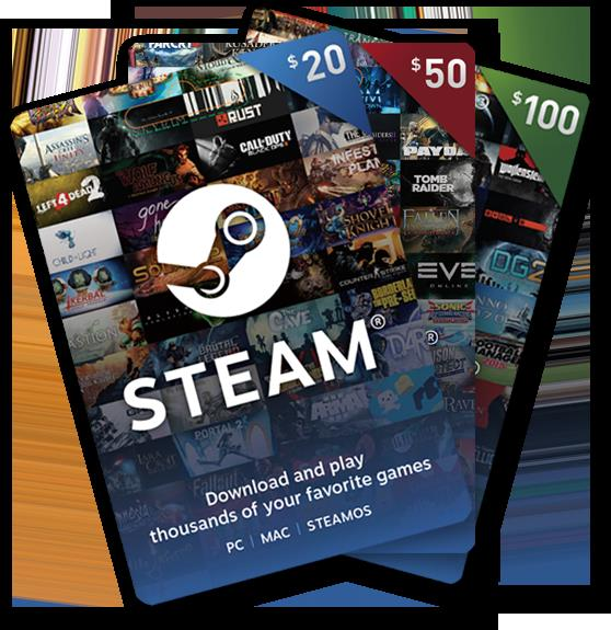 how to buy games on steam with gift card