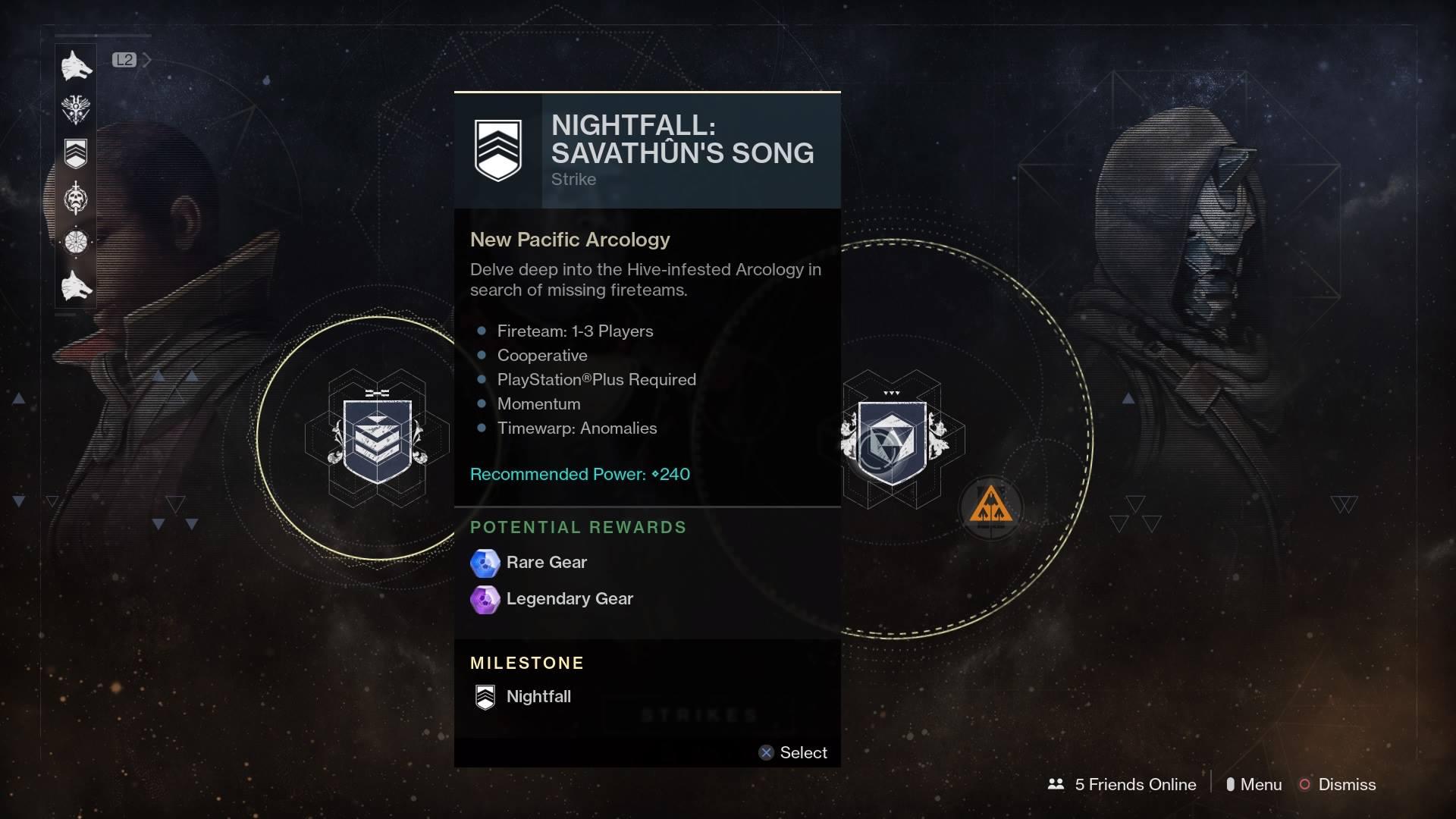 destiny nightfall matchmaking 2017