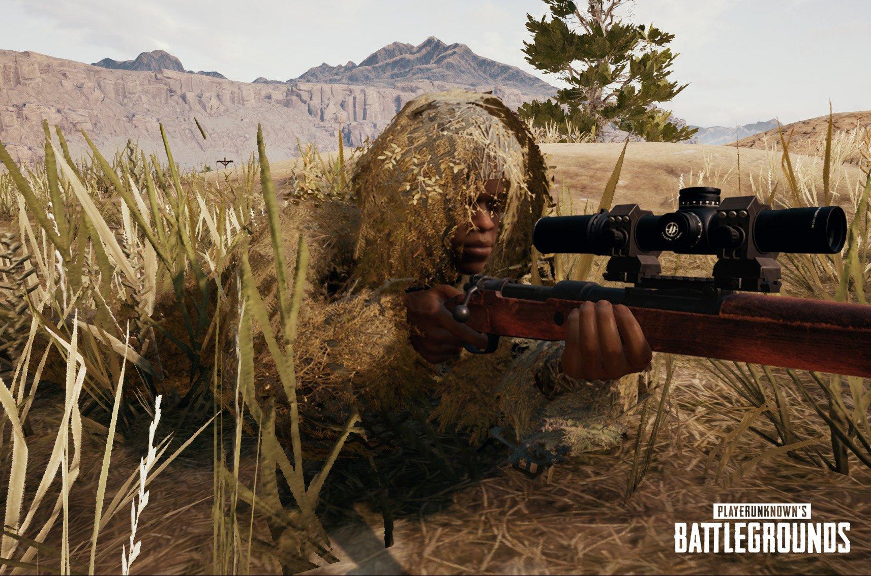 Pubg Wallpaper Ghillie Suit: PlayerUnknown's Battlegrounds Miramar Desert Map Now