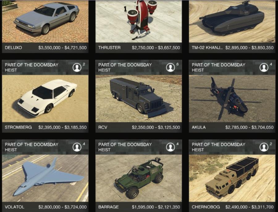 Gta Heist Car Prices