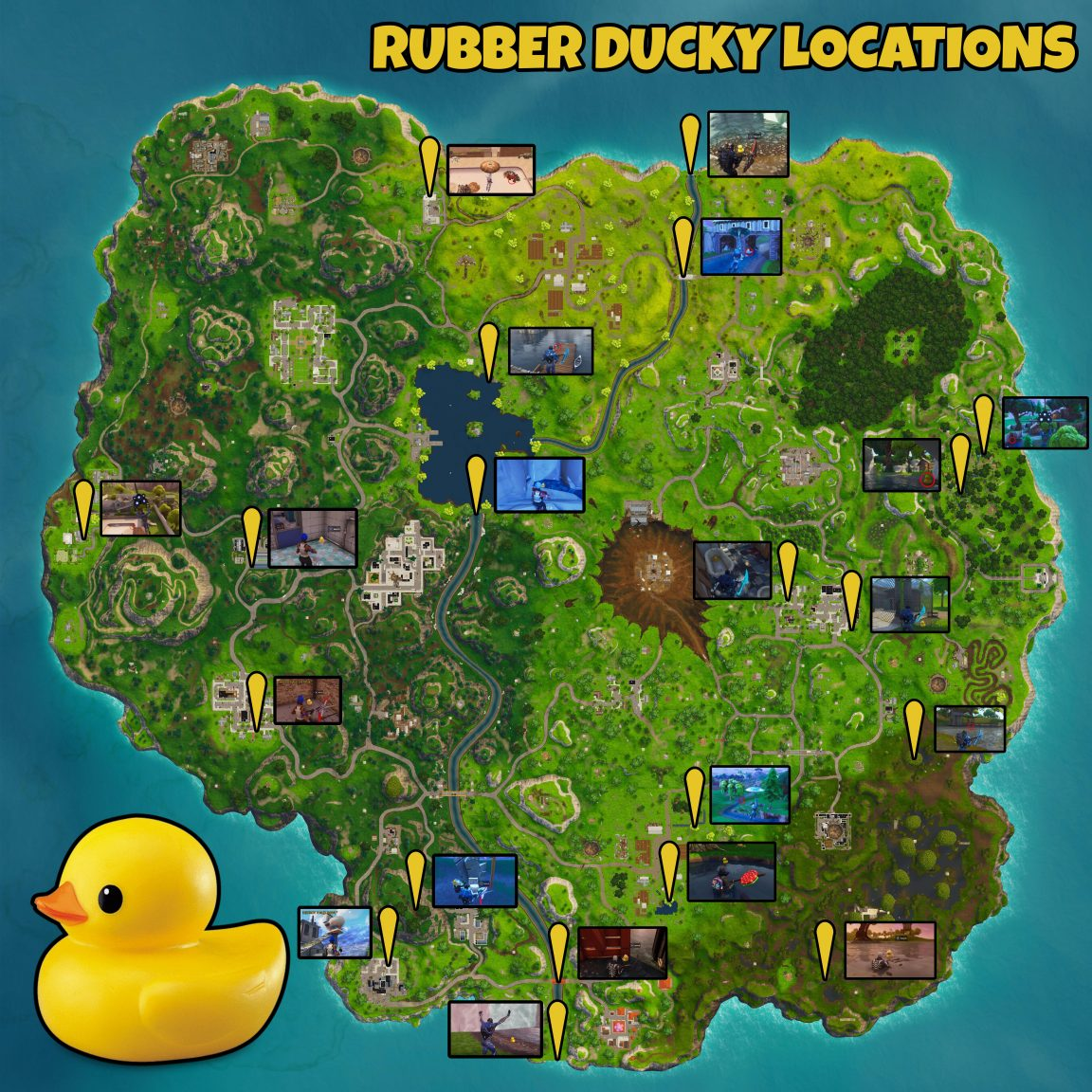 Fortnite Search Rubber Duckies How To Find 10 Quacking