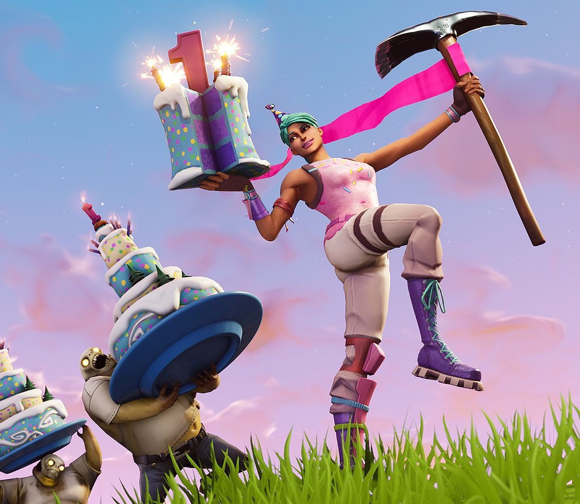 Fortnite birthday cake locations dance in front of - Fortnite dante ...
