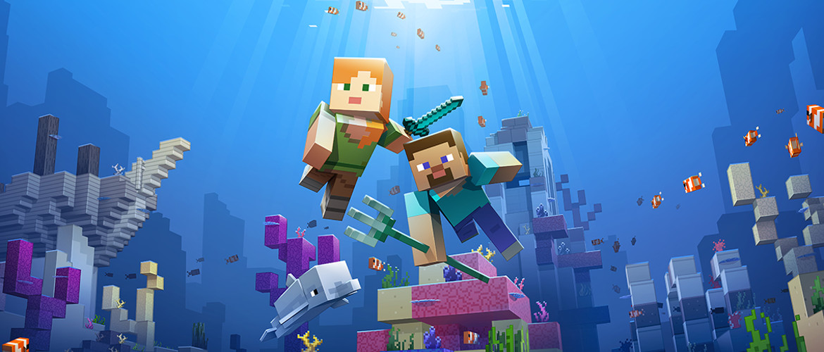 Phase two of the Minecraft Aquatic update has arrived