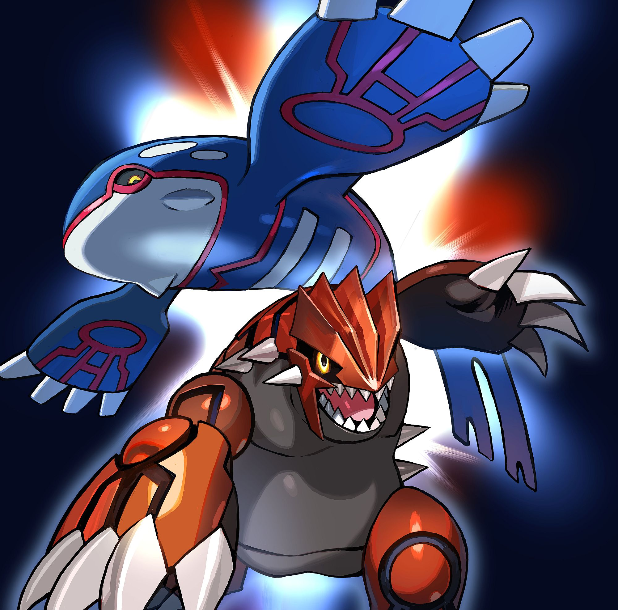 Legendary pokemon kyogre and groudon now available for pokemon sun and moon - Pictures of groudon and kyogre ...