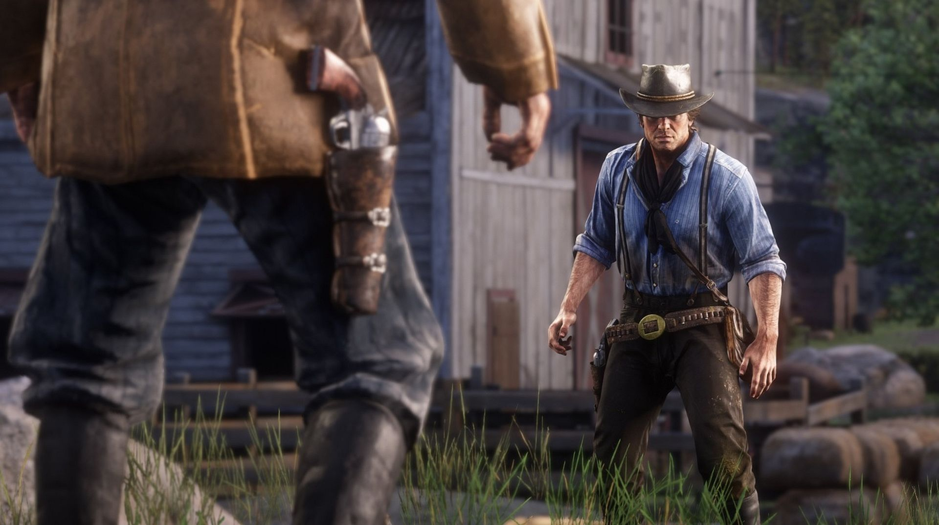 red dead redemption 2 gameplay hunting features customisation red dead online and more vg247. Black Bedroom Furniture Sets. Home Design Ideas