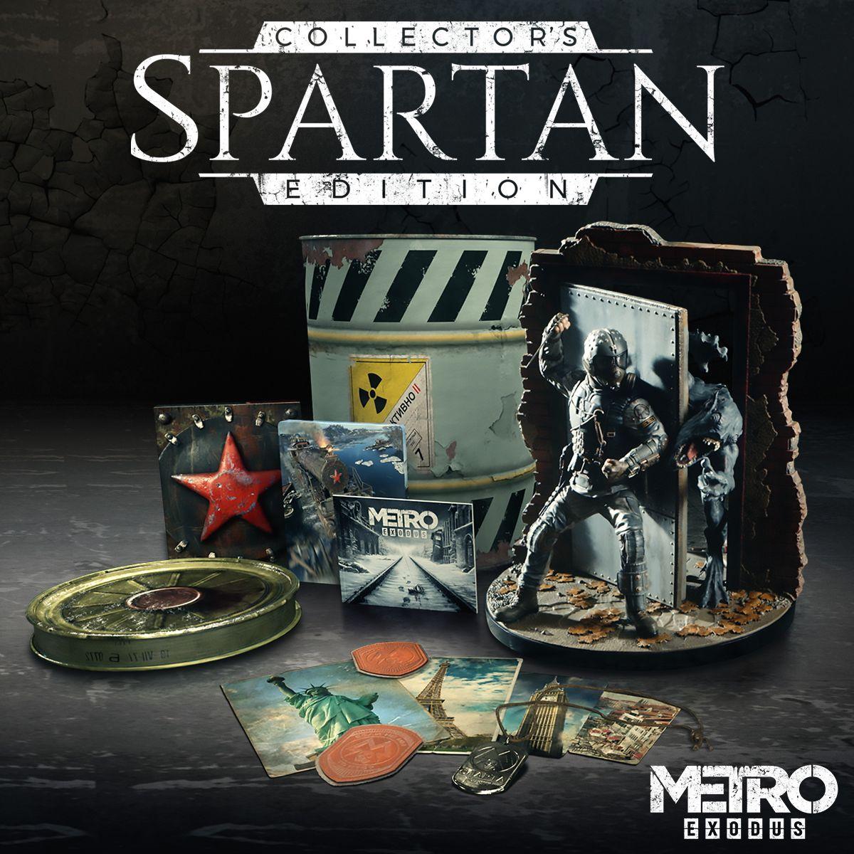 metro exodus spartan edition artyom collectors statue watchman collector