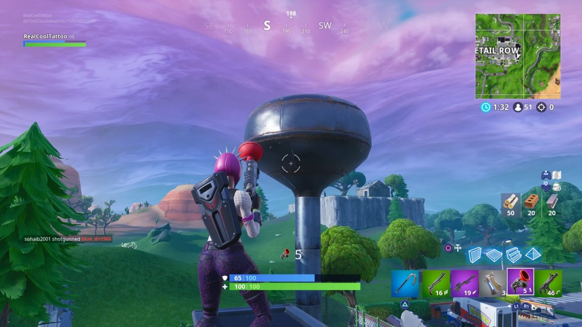 Fortnite: Dance On Top Of A Water Tower, Ranger Tower, Air