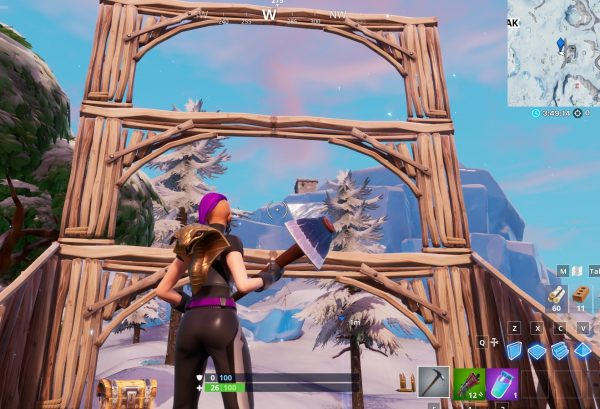 Fortnite Dance In Front Of A Bat Statue In A Way Above