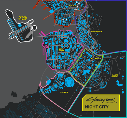 Cyberpunk 2077 map is based on the board game's new ...