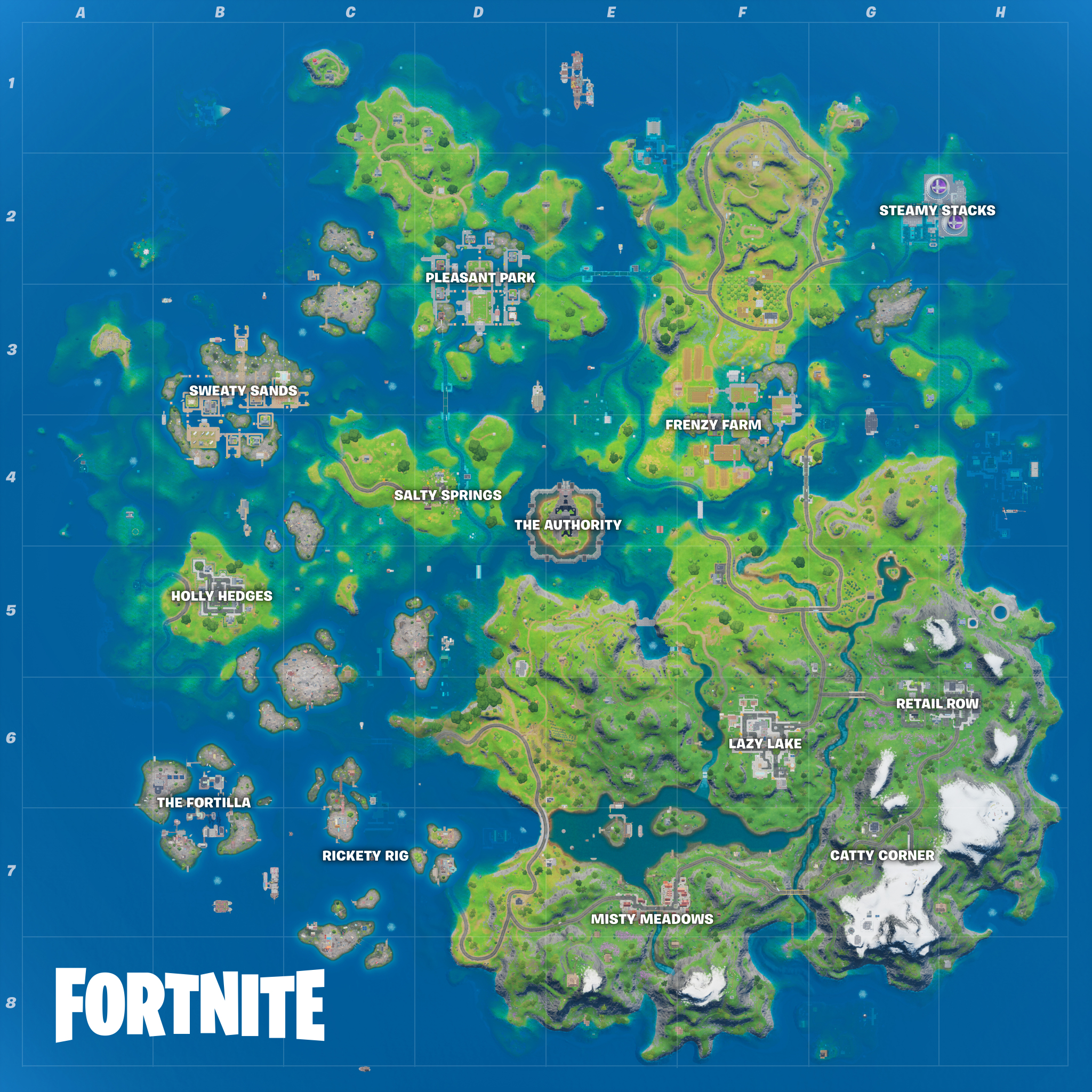 Fortnite Season 3 Map changes: The Authority, Catty Corner ...
