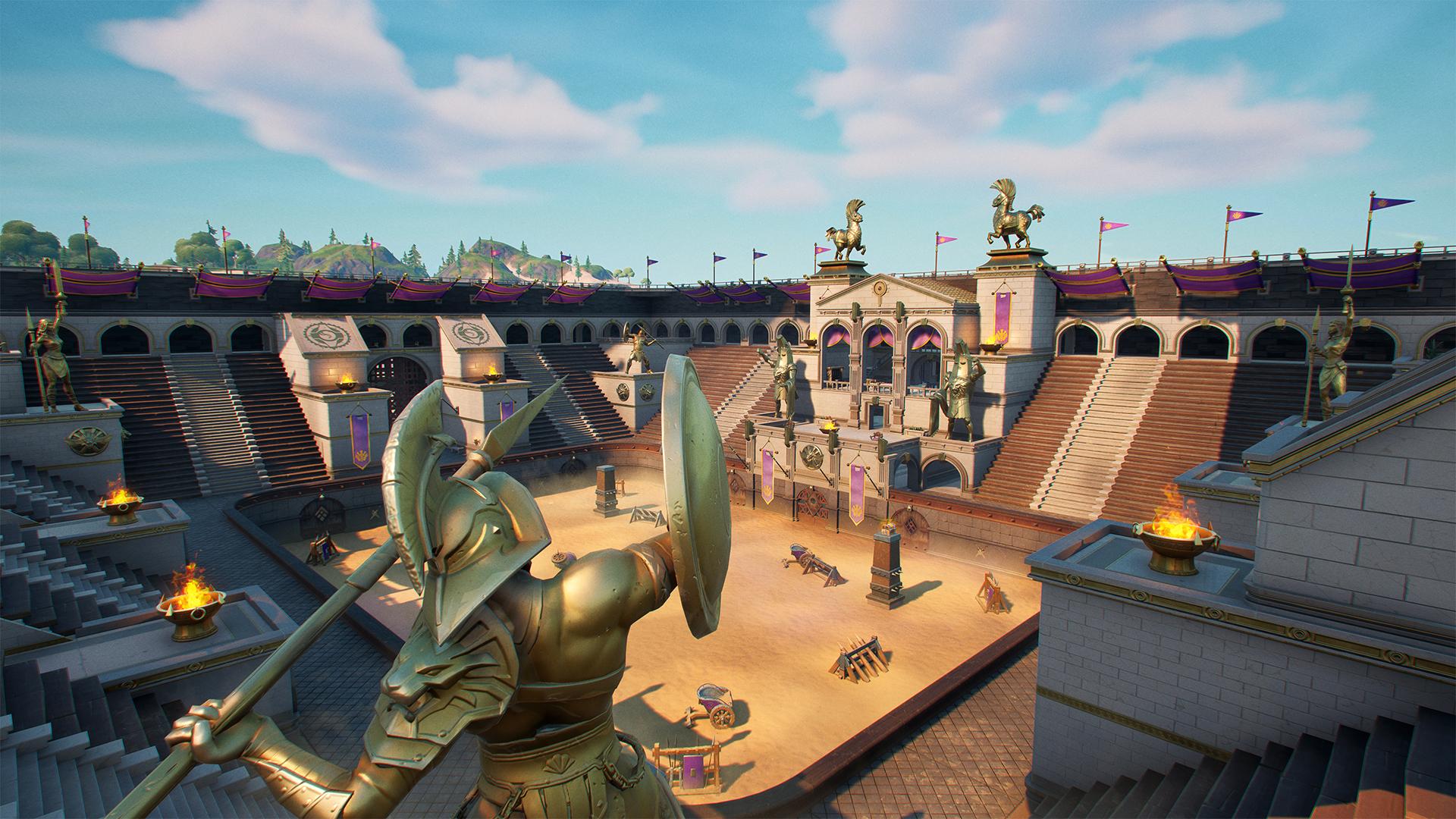 Fortnite Chapter 2 Map Reddit Fortnite Chapter 2 Season 5 Map Changes Giant Coliseum Salty Tower Etc Jioforme