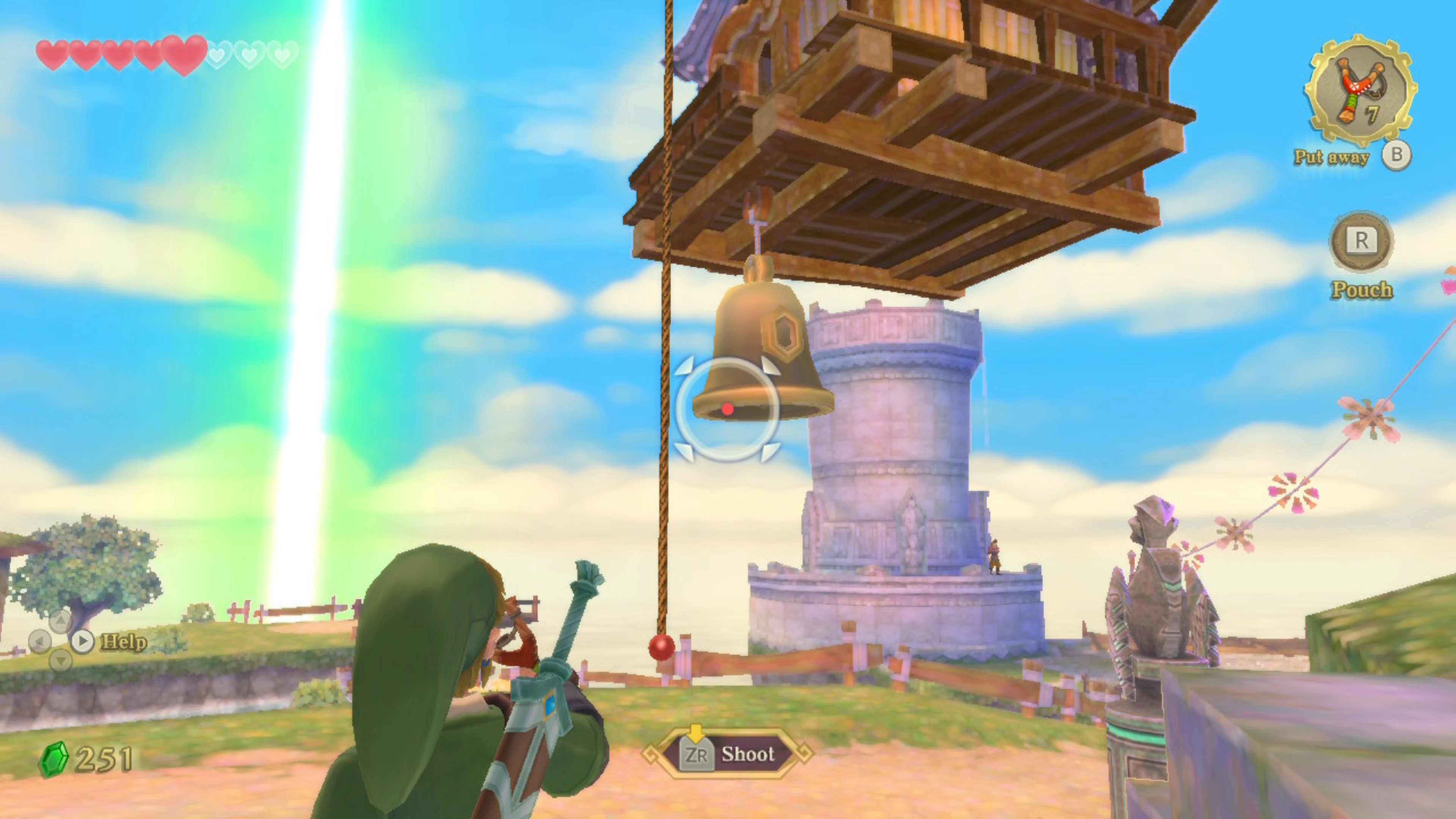 Zelda Skyward Sword: how to get to Beedle's flying shop to buy adventure pouch & wallet upgrades